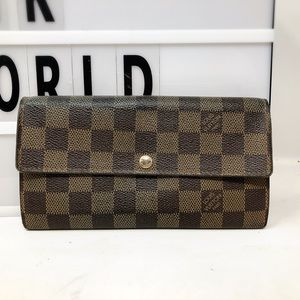 Louis Vuitton Sarah Damier Ebene Long Wallet